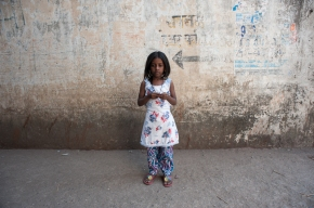 a girl in Lallubhai Compound, Mankhurd, Mumbai