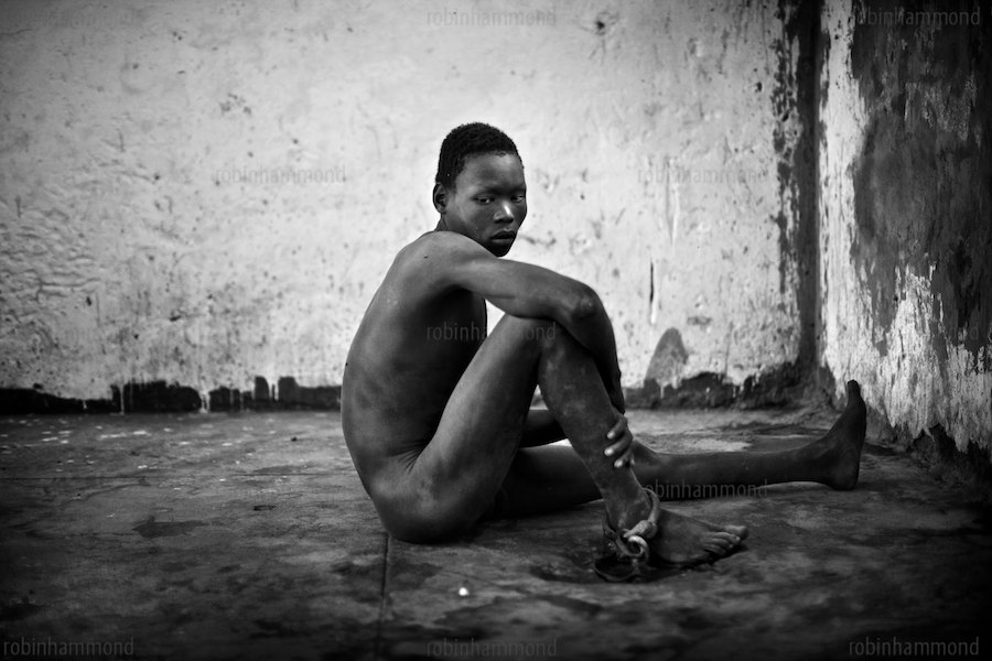 Abandoned by their governments, forgotten by the aid community, neglected and abused by entire societies: A voiceless minority resigned to the dark forgotten corners of churches, chained to rusted hospital beds, living out their lives behind the bars of filthy prisons - Lives condemned to quiet misery… These are the mentally disabled living in Africa's regions in crisis. Severely mentally disabled men and women are shackled and locked away in Juba Central Prison for years on end. The new nation of South Sudan faces a tremendous challenge to build a modern country capable of caring for all of its citizens. Juba, Sudan