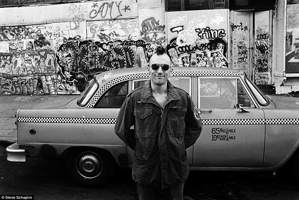 Robert De Niro during the filming of 1976 movie Taxi Driver