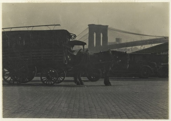 Consuelo Kanaga - [Untitled] (Horse Drawn Wagon) 1922